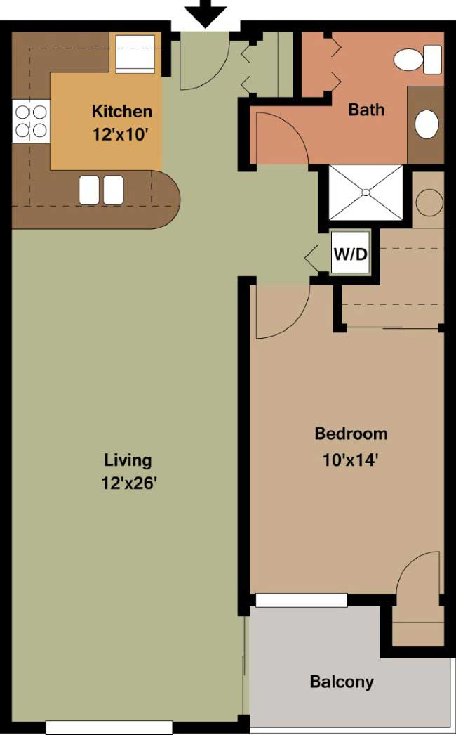 One bedroom apartment floor plans Archives   Edge On North Apartments Floor Plan Type H   June 9  2015 one bedroom apartment  . One Bedroom Apartment Floor Plans. Home Design Ideas